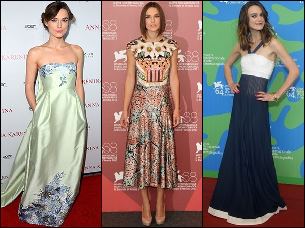"Keira Knightley with her ""too"" skinny shape, but still always looks good and gorgeous with dresses and skirts"