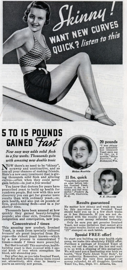 Quick Ads For Beauty Product Blusher Oneminutebriefs: Vintage Ads Promoting Weight Gain For Women